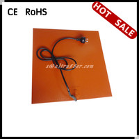 China 2014 New Silicon Rubber Heating Mat/Sheet 300 x 300MM For 3D Printer Bed