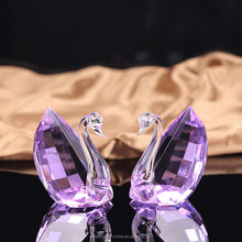 Wholesale Double Crystal Glass Swan For Wedding Favor