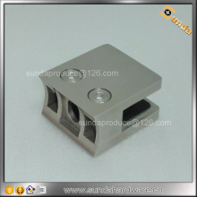 stainless steel curved back D type glass clamp