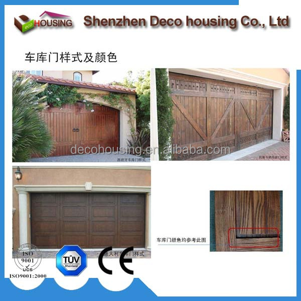 Modern garage door type competitive price automatic wood garage door panels sale
