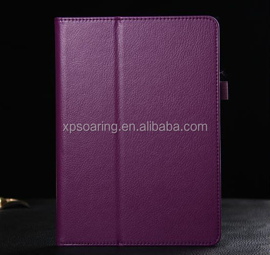 Cheapest Leather case for ipad 6 with stand, pouch case for ipad 6