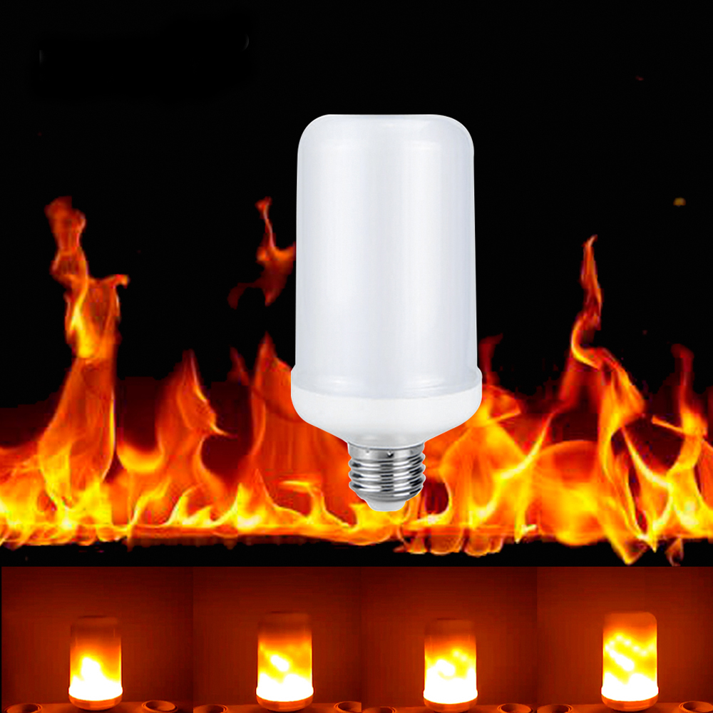 Simulation Fire Burning Flicker Replace Gas Lantern Decoration Dynamic 110V 220V E27 Flame Effect LED lighting bulb