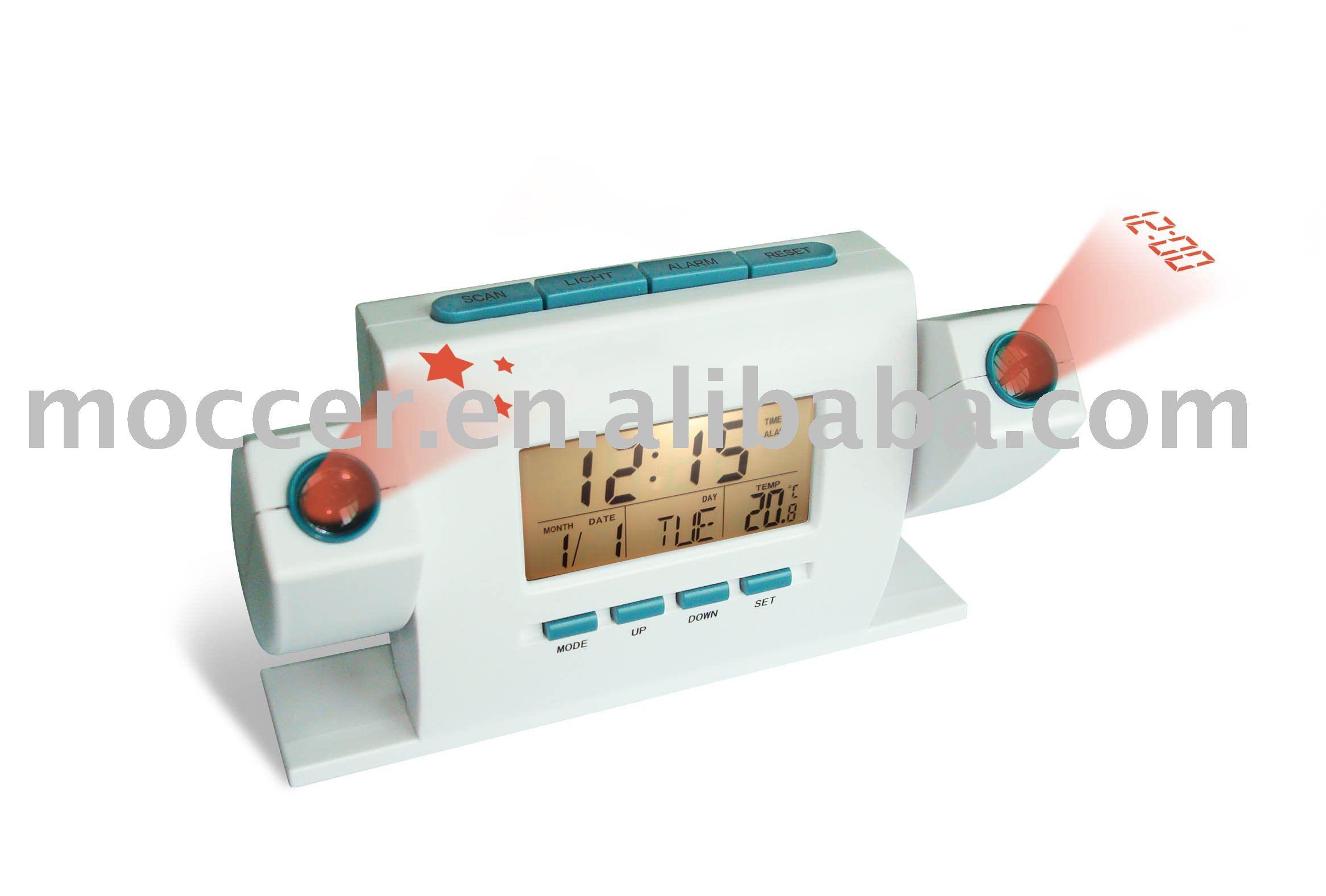 Dual Projection Alarm clock with Radio