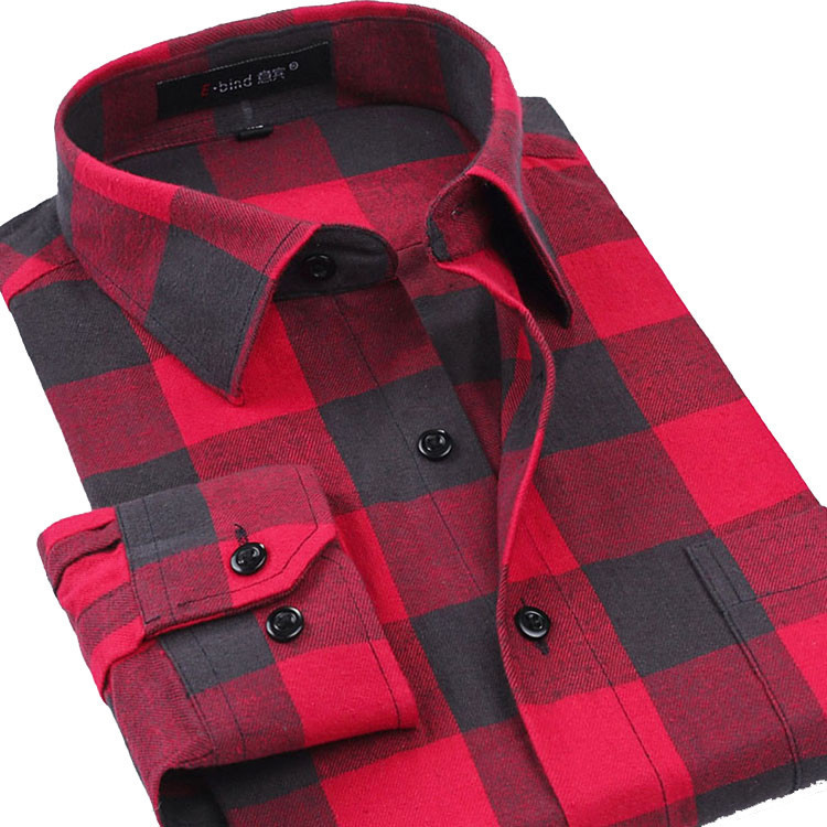 Newest 2015 Fall Winter Men Casual Plaid Shirt Long Sleeve Slim Fit Man Clothes Fashion Top Quality Brand Men's Shirts