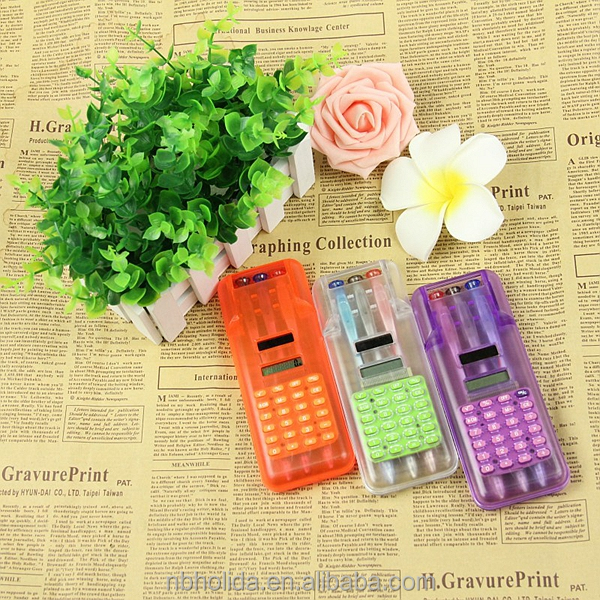 8 digits solar power pen box calculator with 3 ball pens/ HLD-820