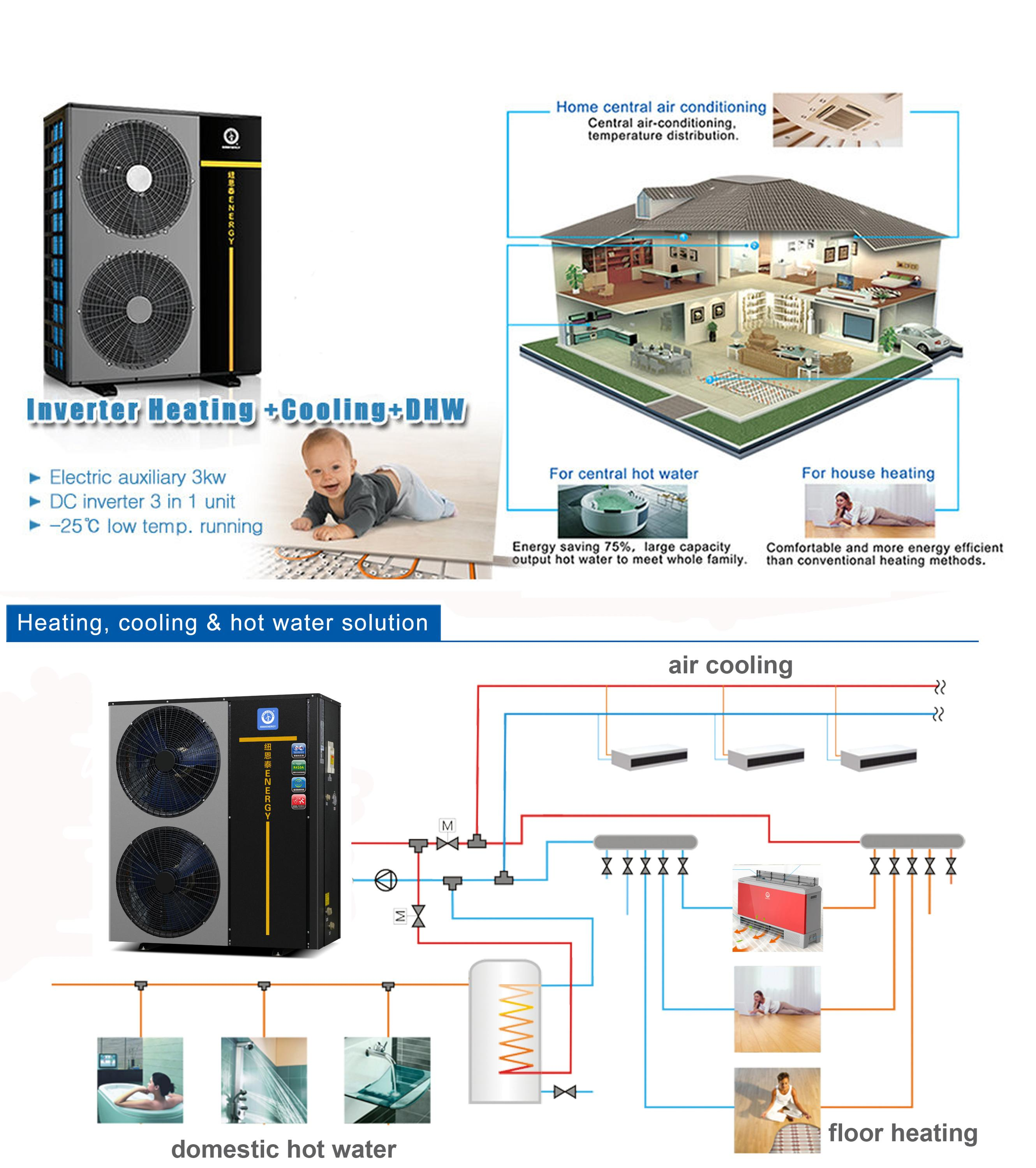 Hydronic Water Heating System Mini Ductless Split Inverter Heat Pump