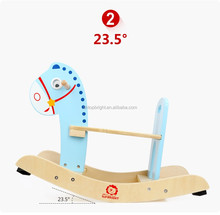Hot items toys new wooden toys small rocking horse with many colors outdoor rocking horse