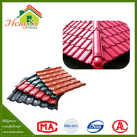 Good workmanship heat insulation synthetic resin maroon roofing tiles