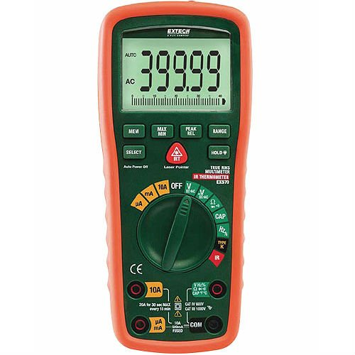Extech EX570-NISTL, True RMS Industrial MultiMeter with IR Thermometer with Limited NIST Certificate