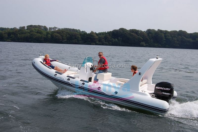 Liya 22 feet luxury yacht with price inflatable boat rib boat hard bottom inflatable boat