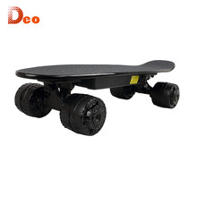 Deo Small Off Road Electric Skateboard 400W Hub Motor Mountain Board LG Battery Rubber Wheel Terrain Board