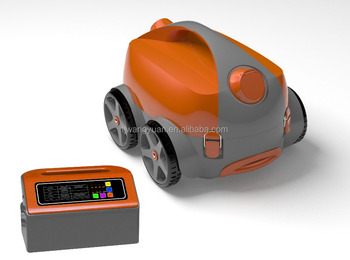 Automatic robotic pool vacuum cleaner, big filtering power