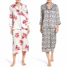 Wholesale Custom Crop Pajamas Sets Women Nighty Sleepwear Mature Women Sleepwear Women