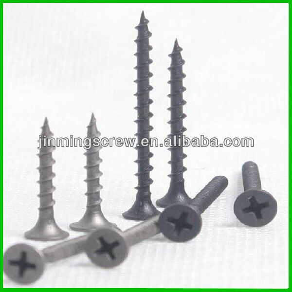 Widely use drywall screw with black phosphated