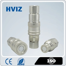 High performance HZ-FF Flat Face Type Hydraulic quick release coupling/ Easy cleaning (ISO16028)