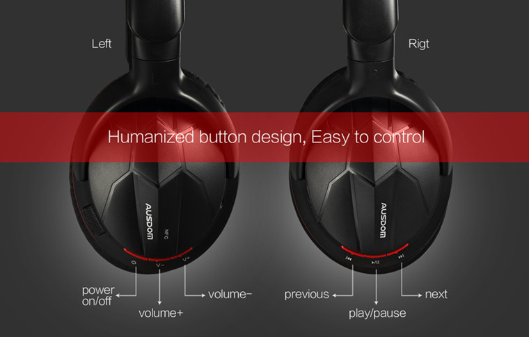 2016 high quality Stereo Headset Wireless Foldable Bluetooth Neckband Over Ear Headphones