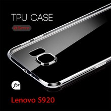 0.5mm Ultra Thin TPU Transparent Clear Protective Case for Lenovo S920