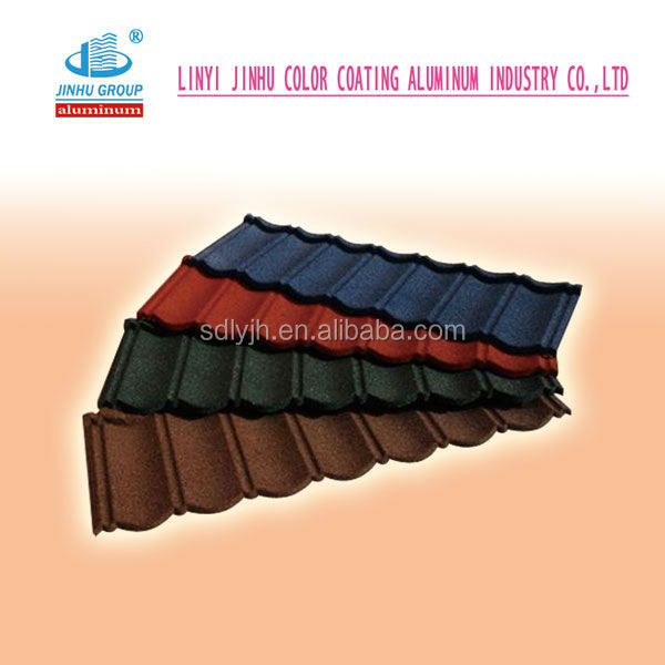 hot sale 1340*420mm seven wave classical stone coated steel roofing tile