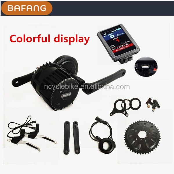 Hot Sale Electric Bike Kit Bafang 8fun Mid Motor bafang 8fun bbshd 48v 1000w With Panasonic Lithium Battery
