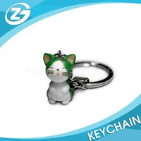 Wholesale Custom Cheap Lovely Metal Key Chain Cat