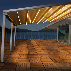 Powder Coated Electric Awnings Pergola Durable Deck Awning for Swimming Pool