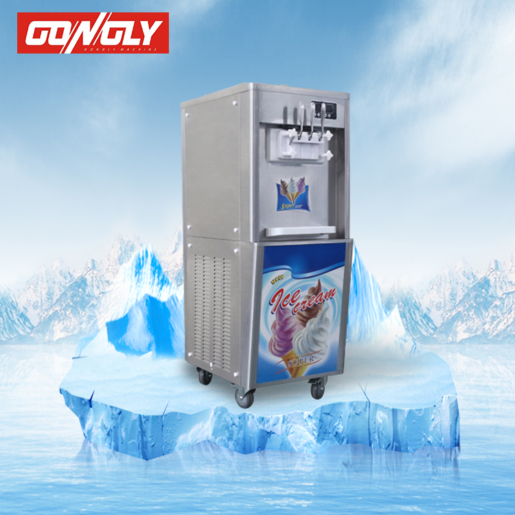 Best Sale 3 Flavors Soft Ice Cream Machine / Ice Cream Making Machine With Imported Compressor