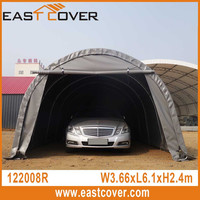 12 x 20 Round Roof W3.66xL6.1xH2.4M UV-resistant Cheap Portable steel frame carport garage with polycarbonate roof