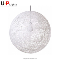Modern decorative rattan ball pendant light lamp
