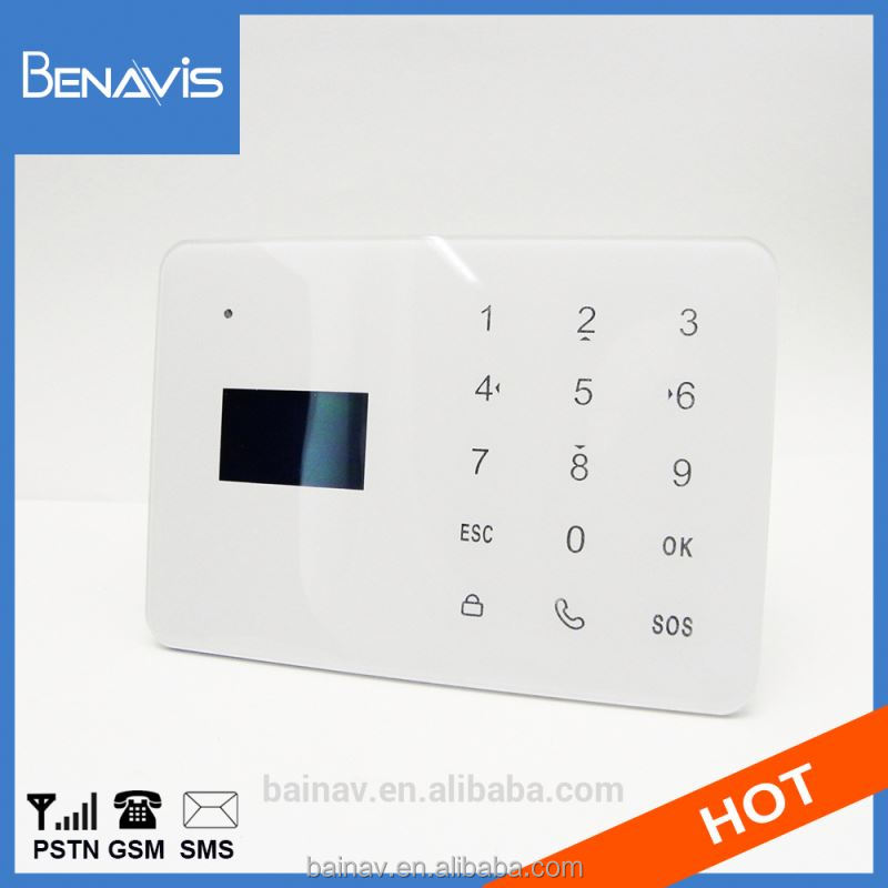 Touch Key Lcd Security Intercom Guard Gsm Home Alarm System