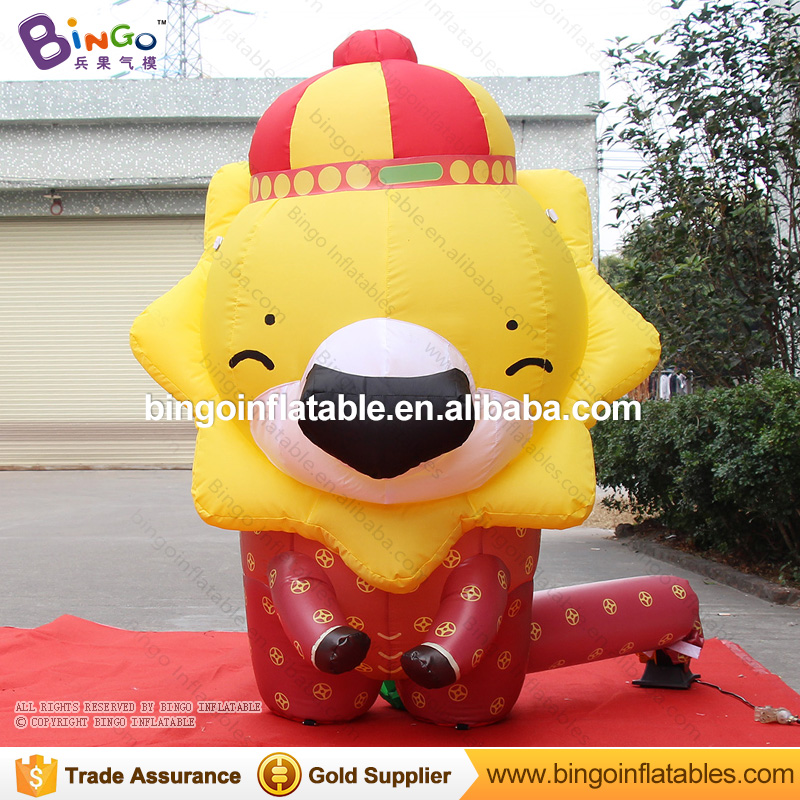 Happy Lucky Inflatable cartoon lion for event party with good quality