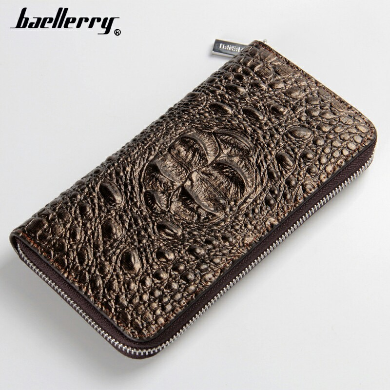 2016 crocodile leather wallet wallet with mobile phone holder violet purse wallet