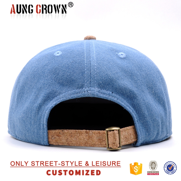 Denim Snapback Cap,Factory Snapback Hat,Custom Cork Logo Patch Snapback Wholesale