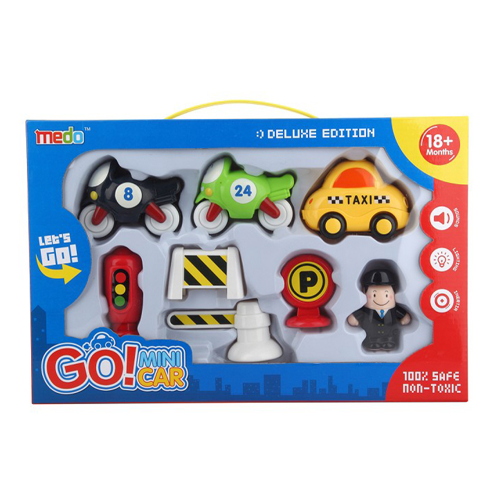 Children friction power kid plastic car toy