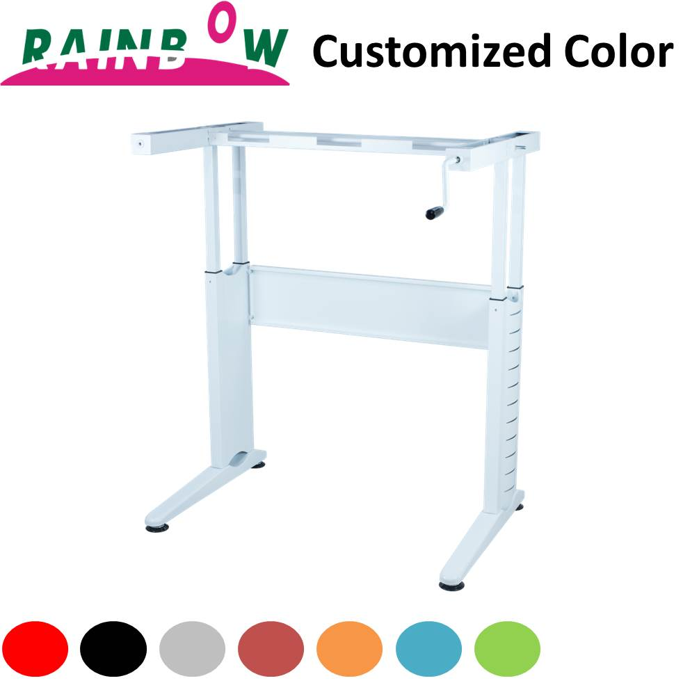 Wholesale Modern Furniture Easy to assemble Steel Computer Height Adjustable Desk table