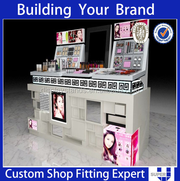 Fashion design retail store display stand for eyelashes&make up