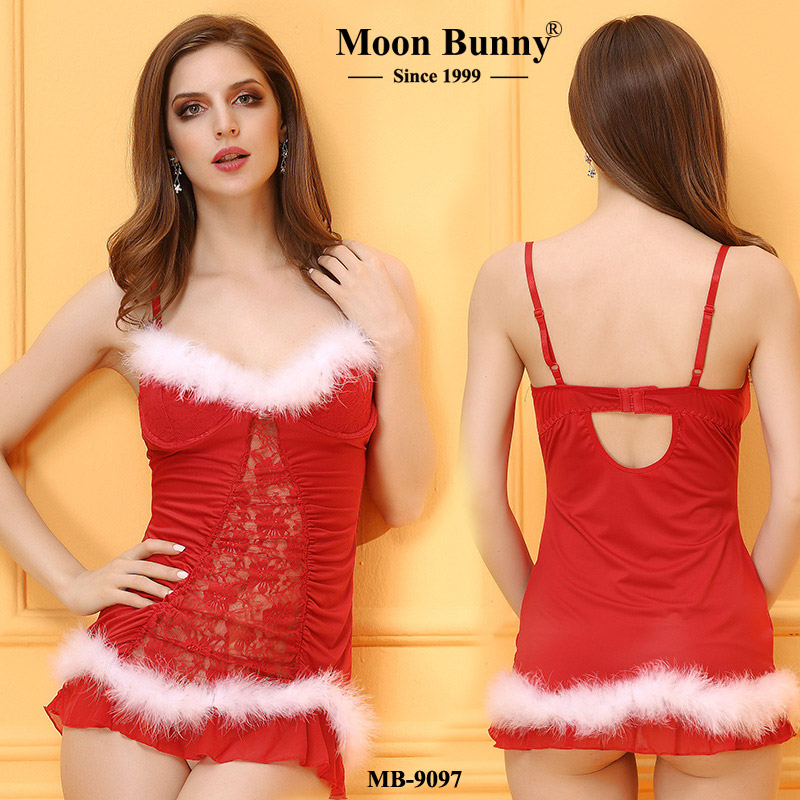 Christmas dress women's sexy underwear suspenders Christmas holiday wear