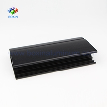 Customized Shapes black powder coated sandblasting Aluminum Profile for Window and Door