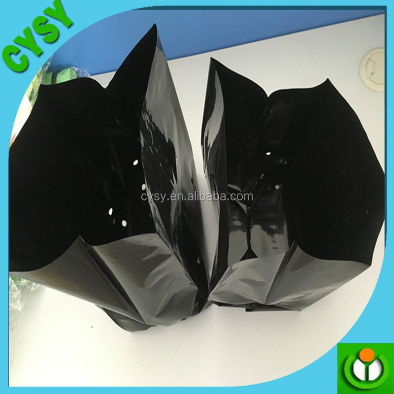 OEM printed black plastic plant bag tomato grow bag