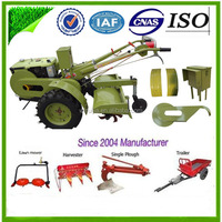 China Agricultural machinery Diesel Engine Electrical Start 8hp /10hp / 12hp /15hp farm usage power tiller / Walking tractor