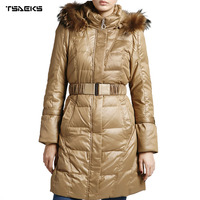 Ladies fashion long coat/down jackets for women 2013