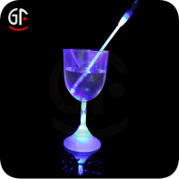 Led Cheap Flashing christmas painted wine glass bulk promotional gift for teenagers