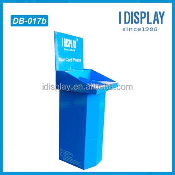 Eco-friendly bottom Stereo support cardboard advertising standing three-dimensional advertisiment billboard