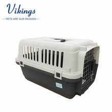 wholesale travel plastic lockable pet carrier airline approved with bowls inside pet crate