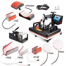 Freesub 8 in 1 Combo Heat Press sublimation t-shirt printing machine for sale