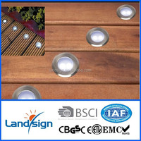 ip68 12V recessed floor led step series stainless steel led stair light/led outdoor flood light 12v/12V led deck light