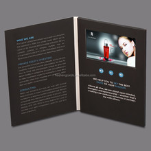 Invitation lcd video greeting card lcd video brochure card video business card
