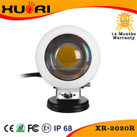 Hot Sale Black/White automobile 4x4 accessories 4wd offroad 2 inch 20w round led work light led driving lights lamp work light