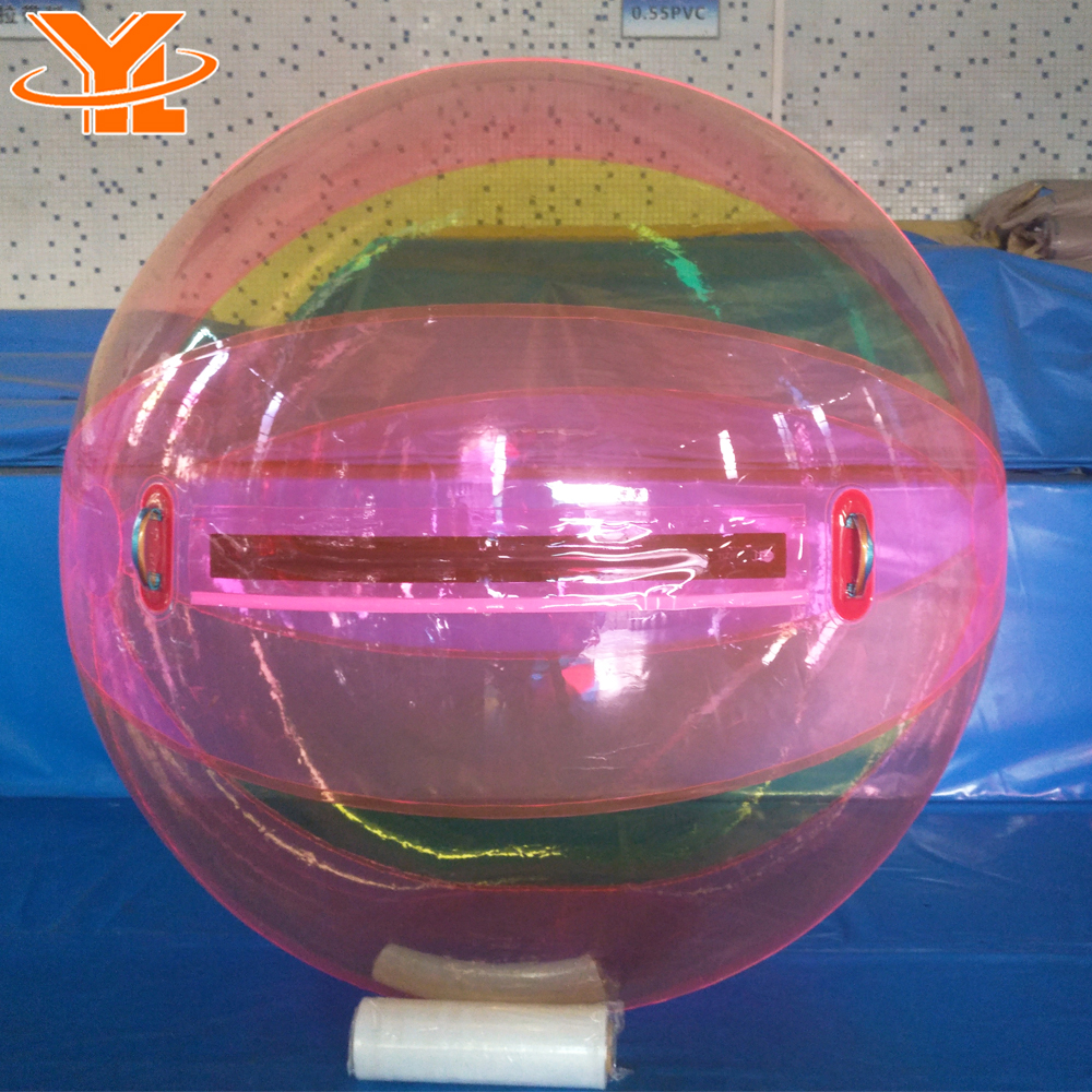 Bright Orange Inflatable Water Ball for Water Park, Portable and Safe Water Bubble Ball for Amusement Park