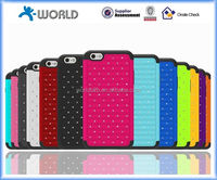 2014 newest gadget 2 in 1 bling back cover shiny colorful branded phone cases for apple iphone