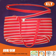 High quality plastic tote bag with zipper and large shopping bag with zipper
